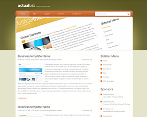 ActualBiz Website Template